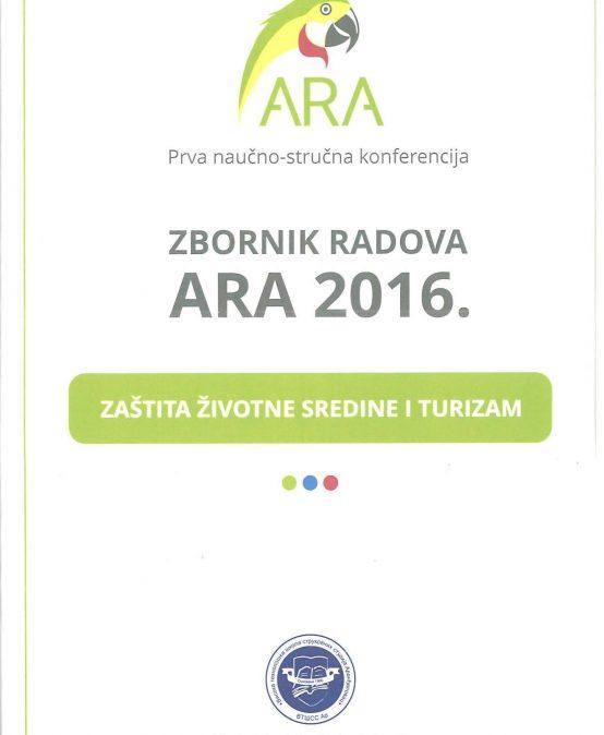 ЗБОРНИК РАДОВА АРА 2016
